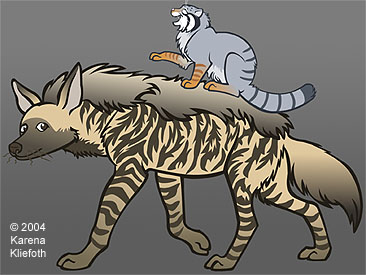 Greetings from the hyenas and Pallas' cats!