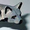 A striped hyena toy.